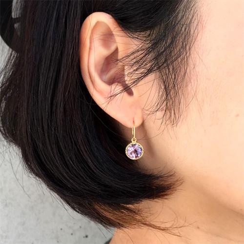 Colette pierce / rose amethyst (K18YG)