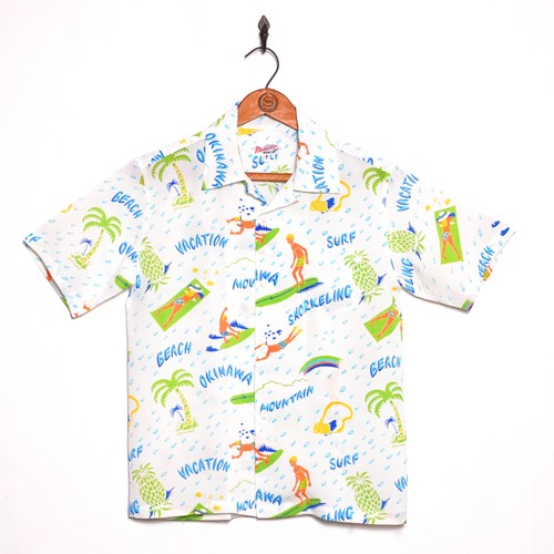 VACATION レディース&ボーイズ / アロハシャツ / White / size P (xxs)