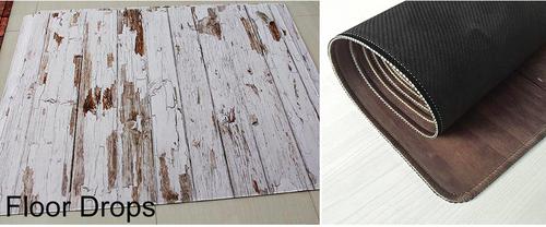 ゴム製の木目調フロアーマット150x200cm