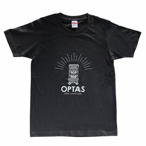 TASKO 「OPTAS」 Tシャツ スミクロ&ホワイト