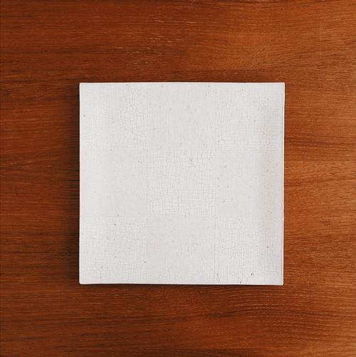 板皿(正方・大)白梅花皮