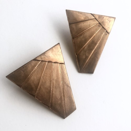 Raw Brass wing earrings No.403