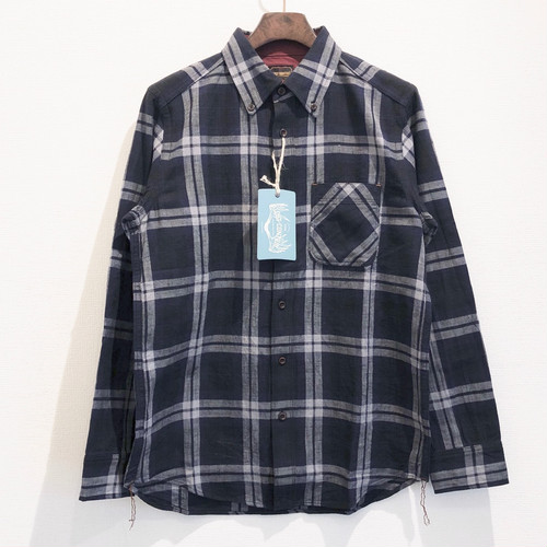 CHECK WORK SHIRTS (DARK BLUE) / LOST CONTROL