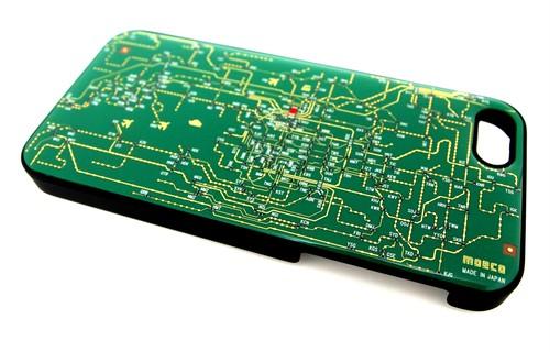 関西回路線図 iphone5/5s/5seケース 緑【LEDは光りません】【東京回路線図A5クリアファイルをプレゼント】