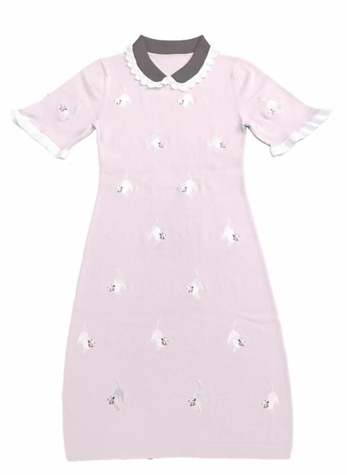 CAT KNIT DRESS PINK キャット ニット ドレス