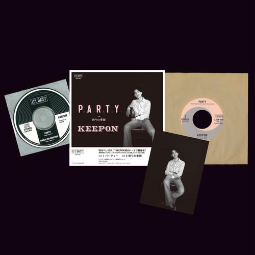 """パーティー/終りの季節/KEEPON(キーポン)(7""""シングル盤)特典付"""