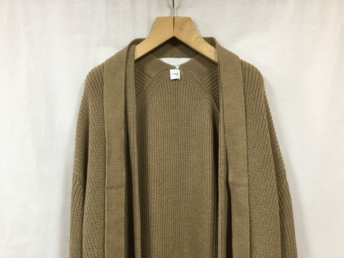 "HAKUJI "" Cotton knit cardigan "" Beige"
