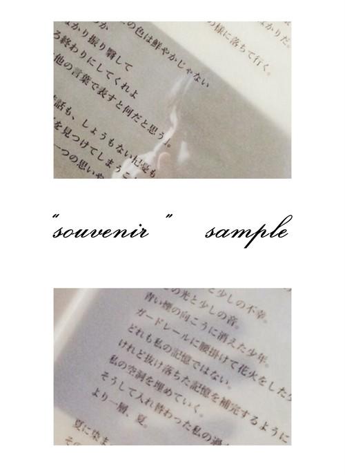 [zine] souvenir