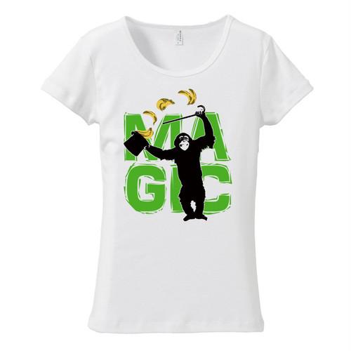 [レディースTシャツ] MAGIC (green)