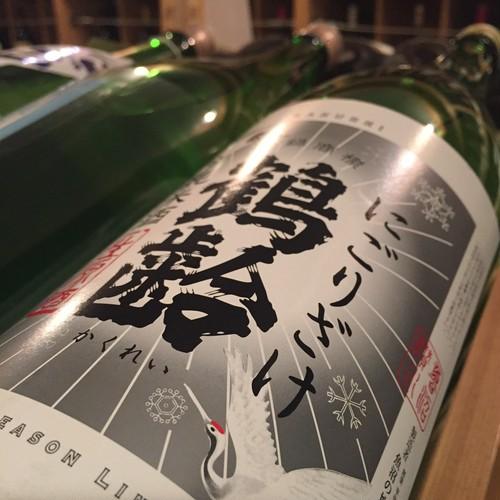 鶴齢 純米 生原酒 にごり酒 1.8ℓ