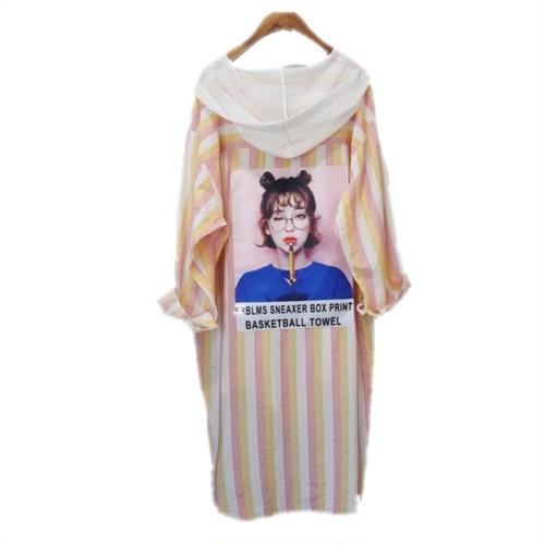 ストライププリントシャツ/ピンク (Stripe Print Shirts)