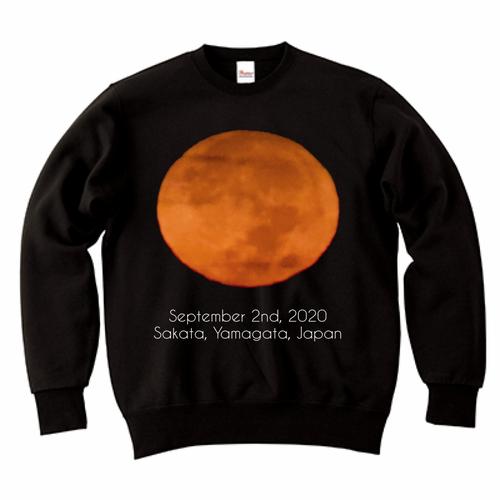 紅い月のスウェットシャーッ