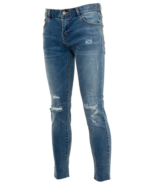 VINTAGE CRUSH CUT SKINNY DENIM[REP095]