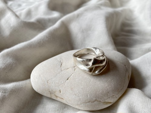 【aika jewelry】wave shape ring