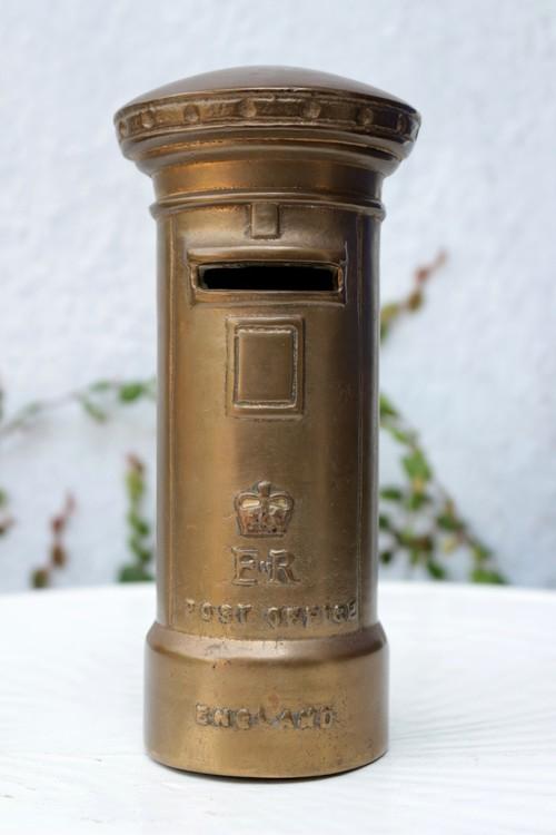 イギリス ロイヤルメール ポスト型貯金箱 真鍮 貯金箱