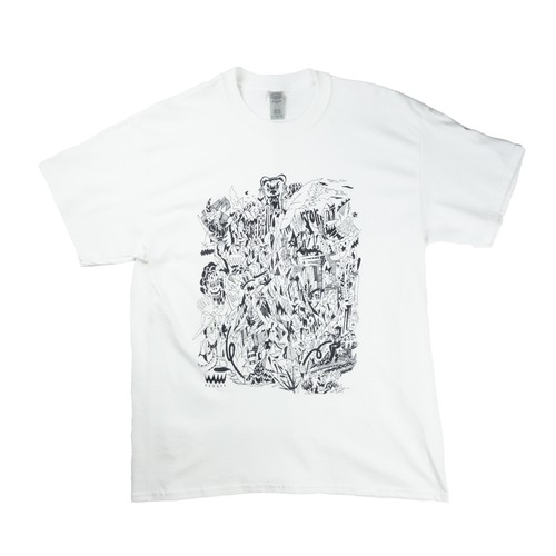 YUJI ODA / Horror Short Sleeve / White