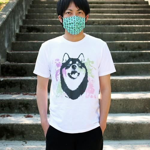 水彩アートな柴犬半袖Tシャツ<男女兼用Mサイズ>