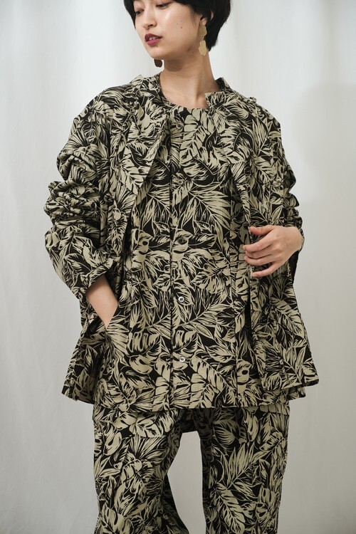 曖昧な上着 fuzzy rope jaket Cottons Print Cloth