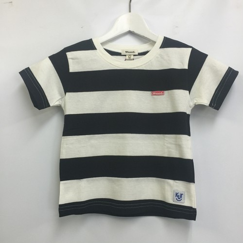 Woood.border T for kids white/black