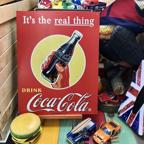 """【02-0005】 ガレージプレートL """"It's the real """"things / Coca-Cola"""""""