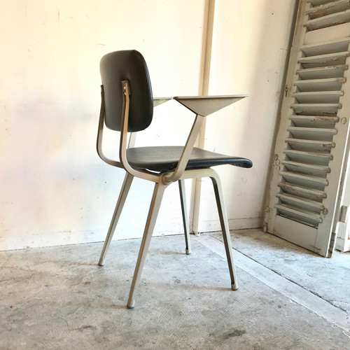 """Friso Kramer"" Revolt Arm Chair Ahrend de cirkel Dark Blue 1960's"