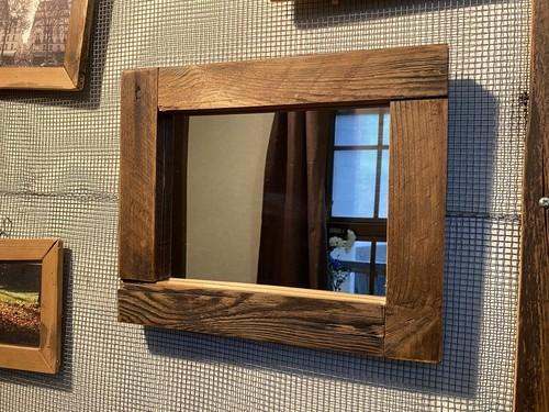 古材フレーム鏡 在庫処分SALE