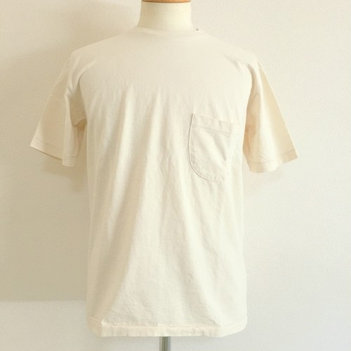 Crew Neck Tee with Pocket Natural