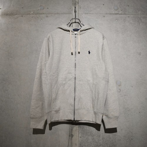 POLO RALPH LAUREN CLASSIC FULL ZIP HOODIE / HEATHER GRAY