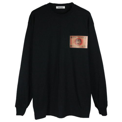 LEATHER PATCH LONG TEE