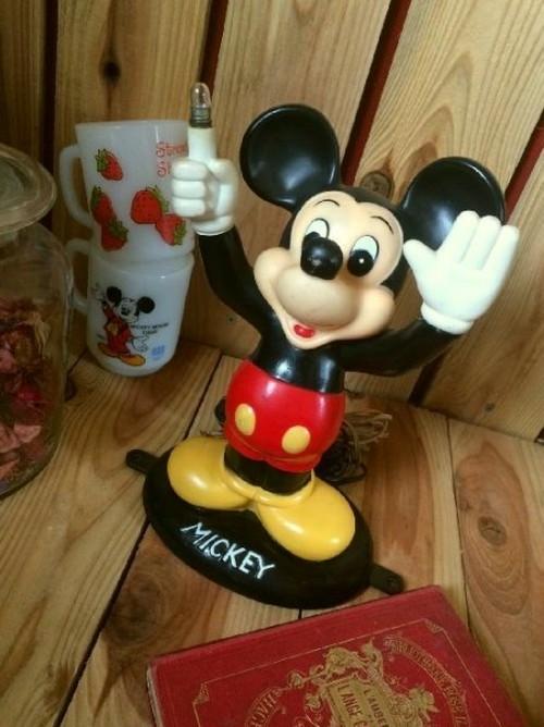 ≫アンティーク*古いミッキーマウスドールランプ*フィギュア人形