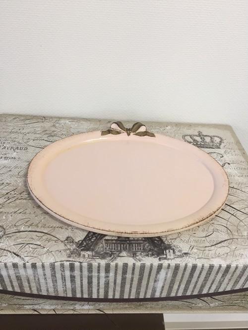 イタリア製 リボントレー ピンク