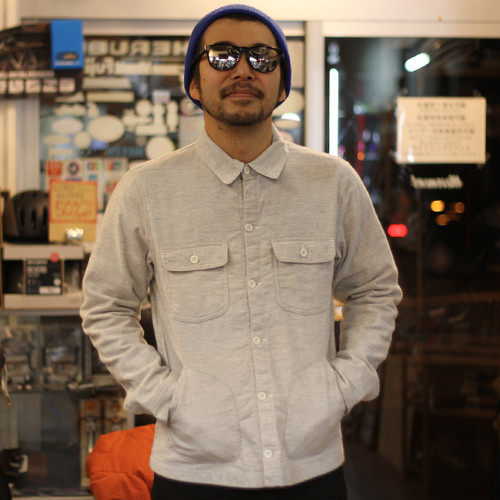 DEEPER'S WEAR  DEFENDER FLANNEL SHIRT / OATMEAL