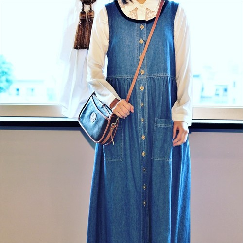 USA VINTAGE DENIM ONE PIECE MADE IN US/アメリカ古着デニムワンピース