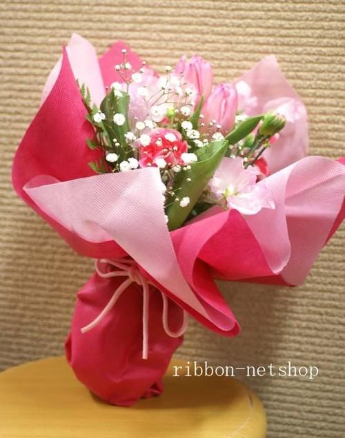 【送料無料】【愛妻の日】【生花・花束】チューリップと季節のお花のブーケ FL-IS-01