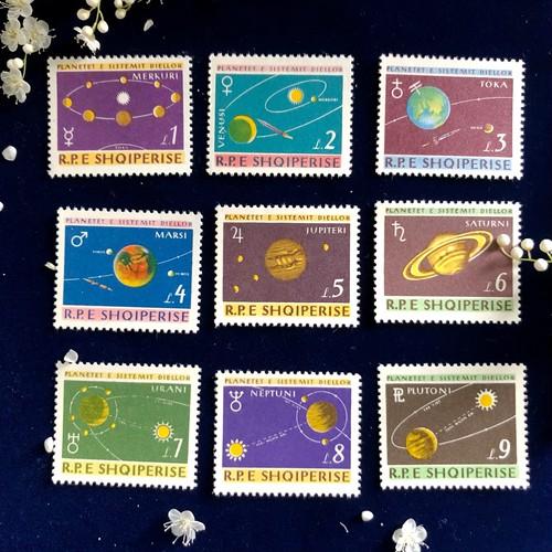 天文切手「太陽系」
