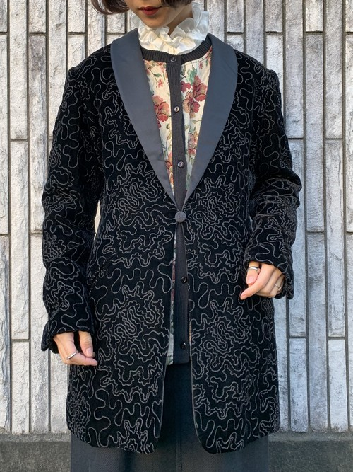 (TOYO) embroidery design long jacket