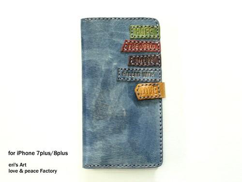 【サンプル品SALE】iPhoneケース for 7 Plus / 8 Plus ブルーグレー OD-SPC-LE-01-8P-sale