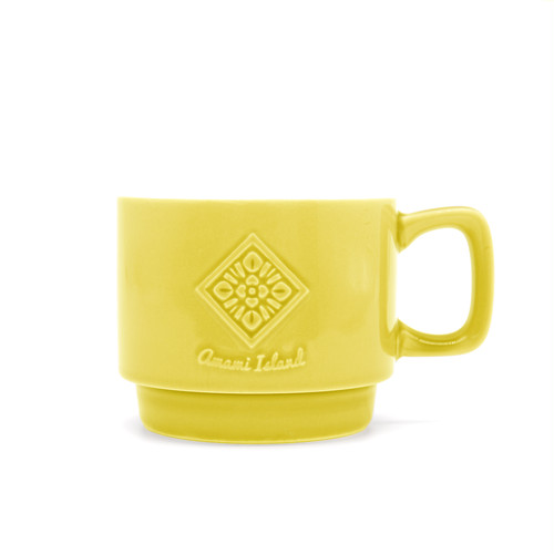 オリジナルマグカップ | イエロー | 紬柄
