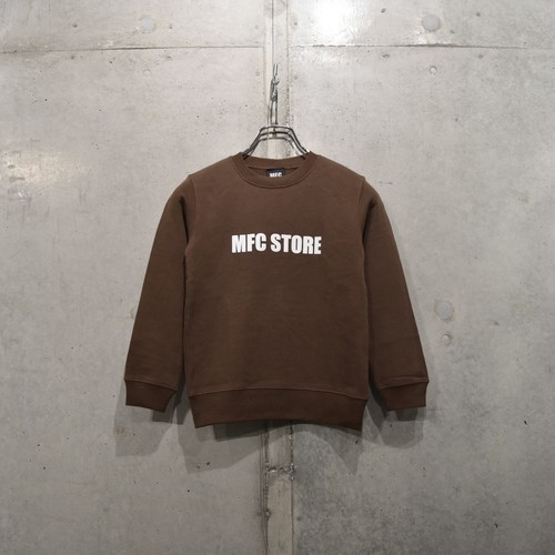 MFC STORE SIDE LOGO KIDS CREWNECK / BROWN