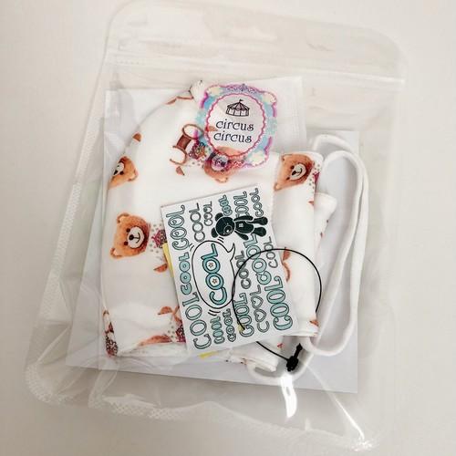 【サーカスサーカス】 circus bear 洗って使える涼感マスク《限定枚数品》