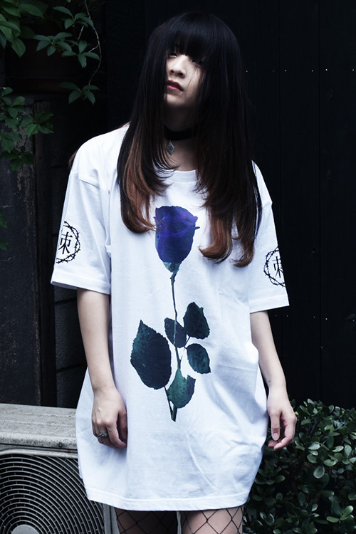 「棘薔薇/Rose Needle」 T-Shirt White