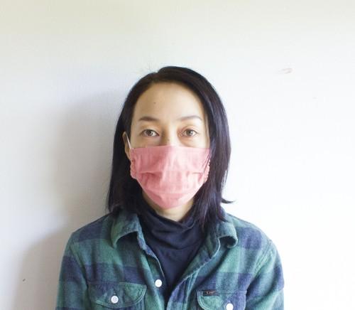 草木染めマスク ふんわり優しい   オーガニックコットン 替えゴム付き 手染め  お肌に優しい 布マスク 敏感肌 花粉症対策 洗える