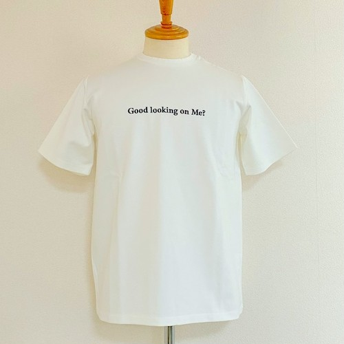 Skeptical Embroidery Crewneck T-shirts White