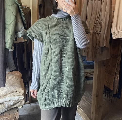 ivy green over knit vest