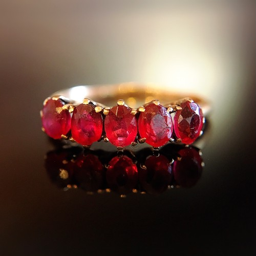 Red Spinel Victorian Gold Ring