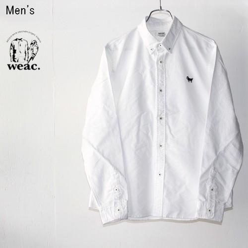 weac. ボタンダウンシャツ PUGCHAN (WHITE)