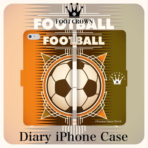 iPhone全機種対応 手帳型スマホケース サッカー ボール