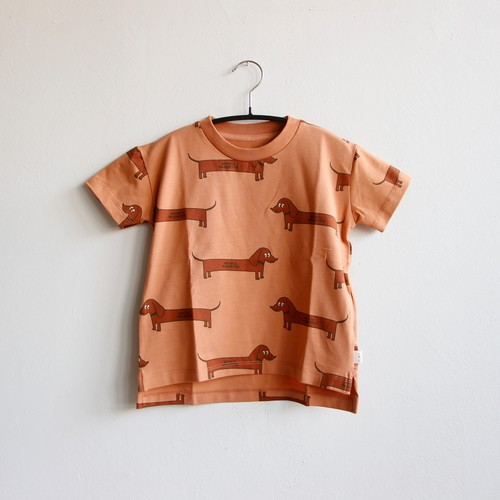 《TINYCOTTONS 2020SS》IL BASSOTTO TEE / tan × dark brown