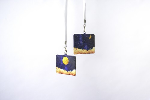 夜空と月の、パスケース