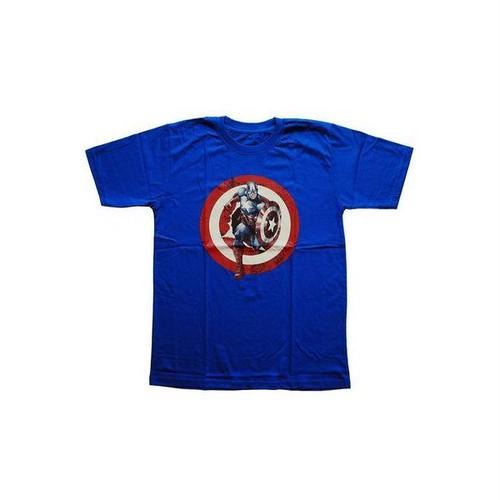 キャプテン・アメリカ Captain America マーベル ヒーロー プリントTシャツ